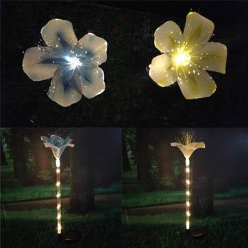 veseloptiese blom versiering lig